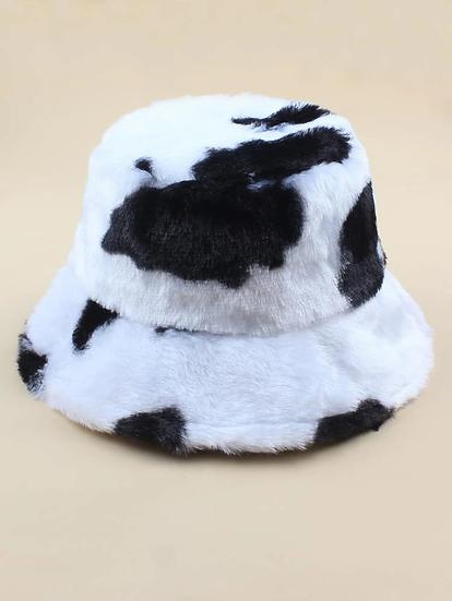 Fluffy Bucket Hat- Black