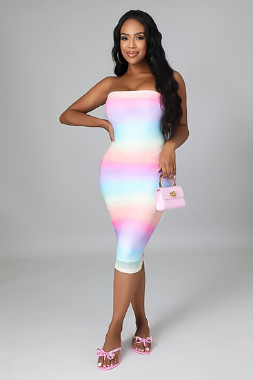At Sunset - Multicolored Dress