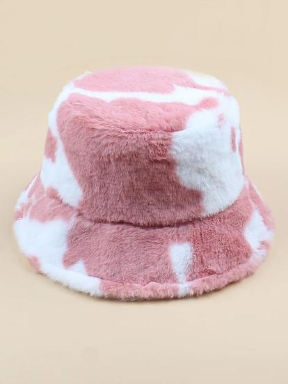 Fluffy Bucket Hat- Pink
