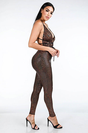 Holographic- Copper Jumpsuit