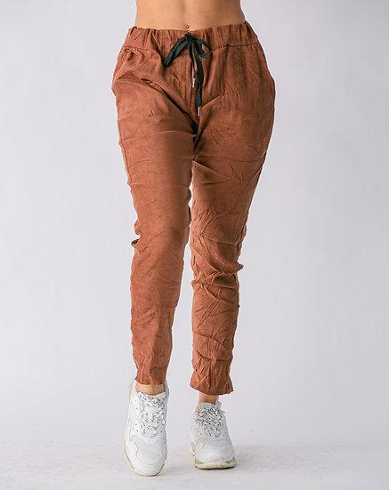 Camel Suede Pants