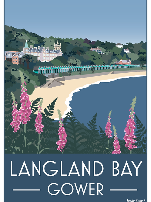 Langland Bay, Gower, Wales