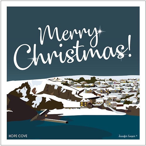 Hope Cove Christmas cards (Pack of 5)