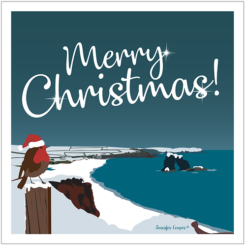 Thurlestone Rock Christmas cards (Pack of 5)