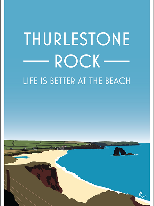 Thurlestone Rock, South Milton Sands, Devon.