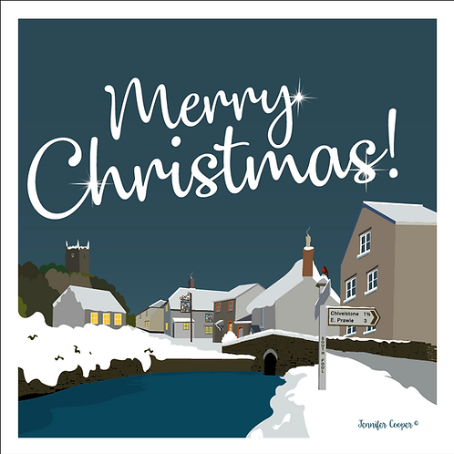 South Pool Christmas cards (Pack of 5)