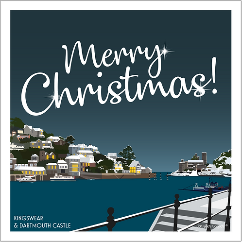 Kingswear & Dartmouth Castle Christmas cards (Pack of 5)