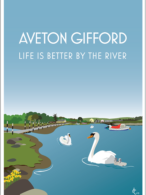 Aveton Gifford greeting cards (Pack of 5)