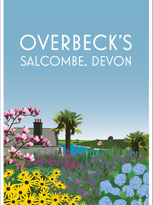 Overbecks, Salcombe greeting cards (Pack of 5)