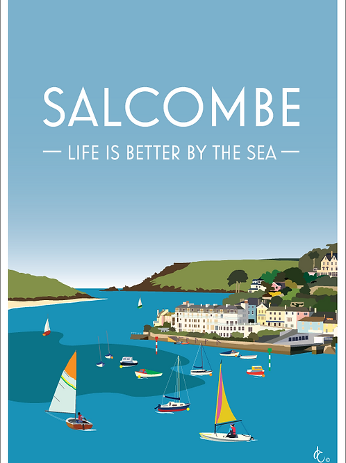 Salcombe greeting cards (Pack of 5)