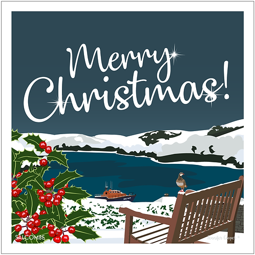 Salcombe Estuary Christmas cards (Pack of 5)