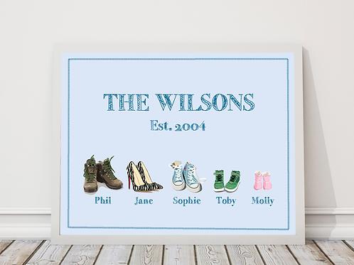 Framed custom family print gift