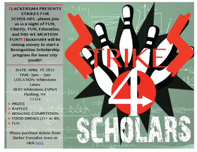 RSVP here for our STRIKES 4 Scholars fund raiser