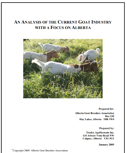 State of AB goat industry