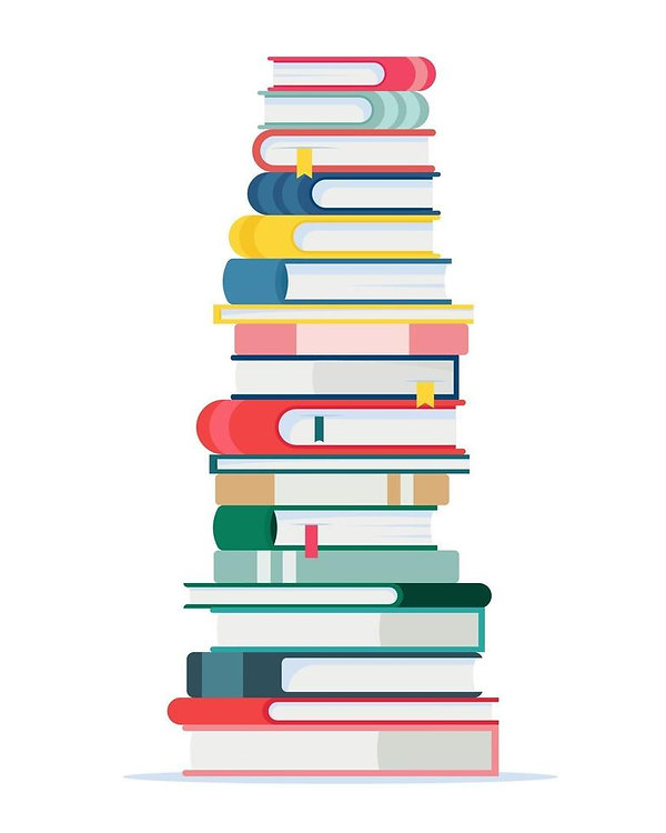 a-large-stack-of-books-illustration-in-f
