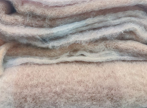 Alpaca fabrics and mohair wool as a Text
