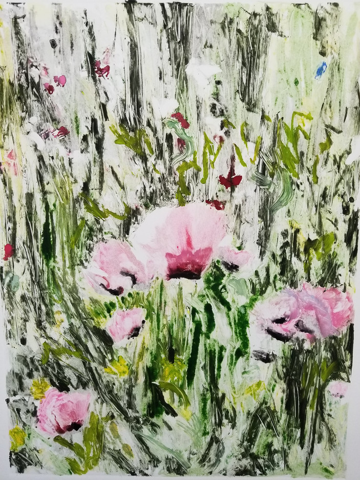 Pink Poppies (Ghost) - SOLD