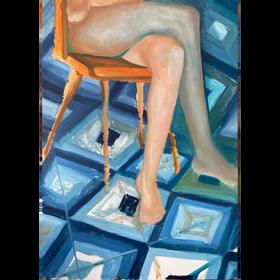 Sin titulo, 2021, óleo sobre tela, 110 x 70 cm