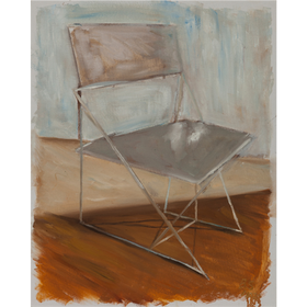 La silla 2020 óleo sobre tela 50 x 40 cm