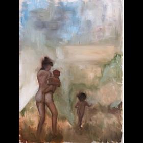 Familia 2020 óleo sobre tela 70 x 50 cm