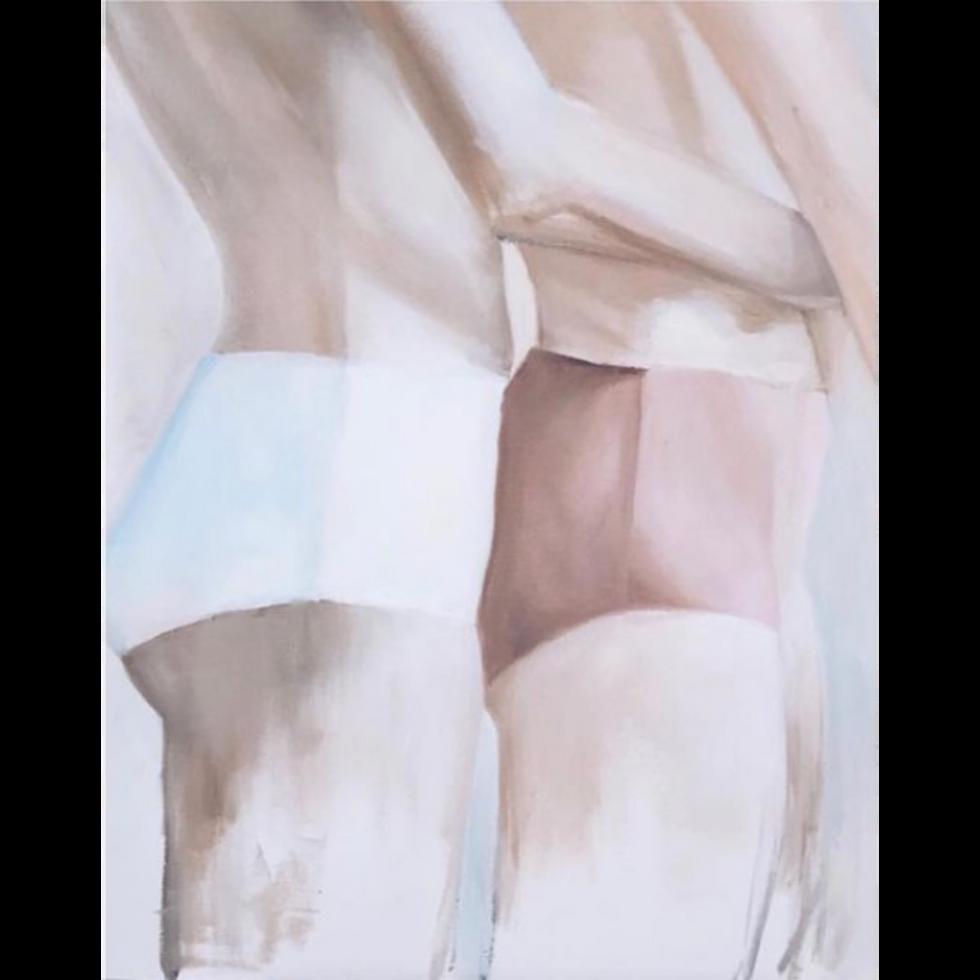 El abrazo II 2019  óleo sobre tela  60 x 40 cm