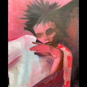 Algo punk 2021, óleo sobre tela, 50 x 40 cm