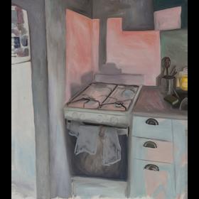 Instantánea, 2020, óleo sobre tela, 70 x 60 cm