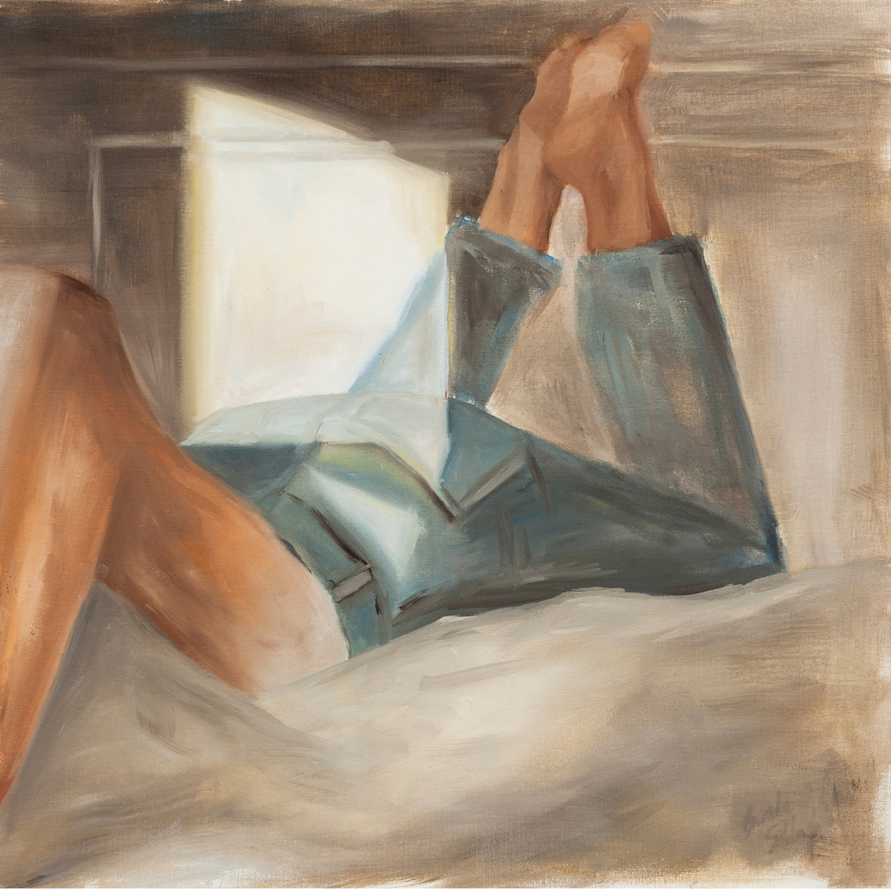 sin titulo 2019 óleo sobre tela 40 x 40 cm