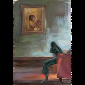 Sin título,2020, óleo sobre tela, 180 x 120 cm