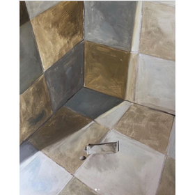 Pasta de dientes 2020, óleo sobre tela, 50 x 40