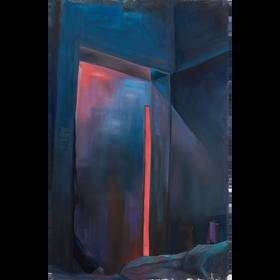 Investigación de luz  2021 óleo sobre tela  110 x 70 cm