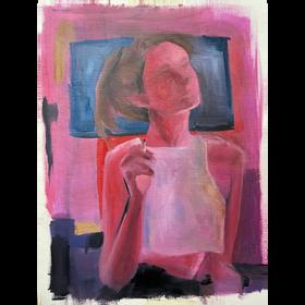 Sonia II 2021, óleo sobre papel, 40 x 30 cm