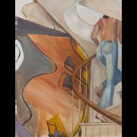 Ida y vuelta, 2020, óleo sobre tela, 160 x 120 cm