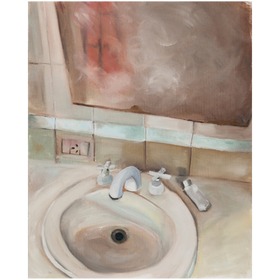 La bacha, 2020, óleo sobre tela, 50 x 40 cm