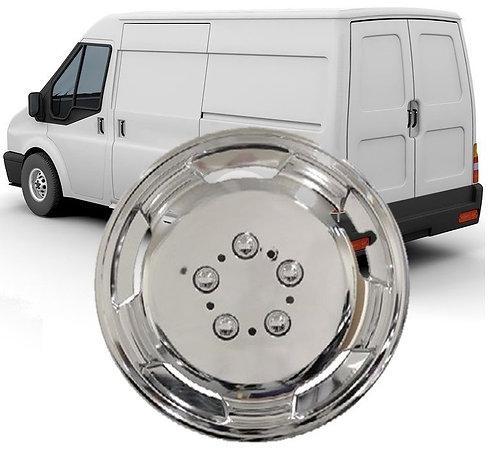 Deep Dish Chrome Wheel Trims For Vans