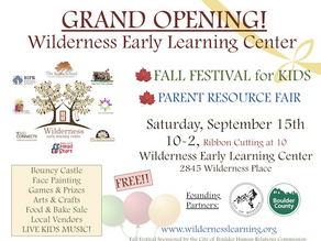 Grand Opening of the Wilderness Early Learning Center