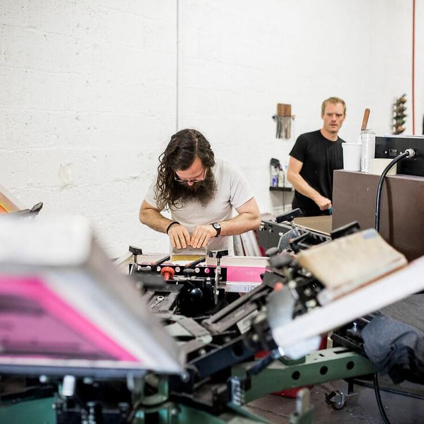 Electric Ghost Screenprinting Workshop at VOV Festival