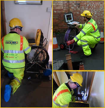 Engineers from Birmingham Drain Services Ltd are conducting a CCTV Drain Survey.