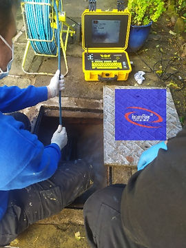 Engineers from Return Flow Ltd are conducting a CCTV Drain Survey.