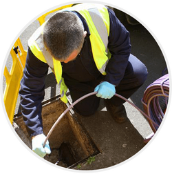 Northants Drainage Ltd carrying-out a CCTV Drain Survey