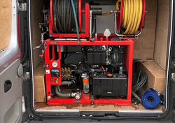 Northants Drainage Ltd fully equipped and ready with this high-pressure water jetting Kit.