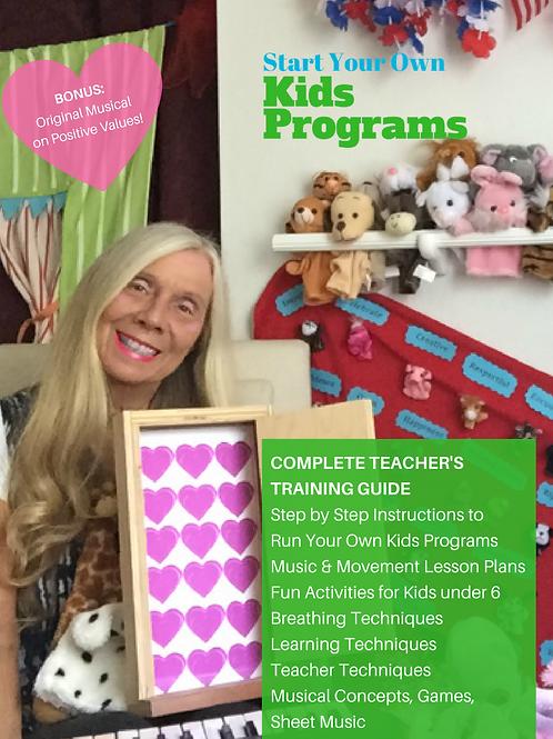Item #1012 Bundle Package: Teacher/Parent Training Manual/Music/Webinars