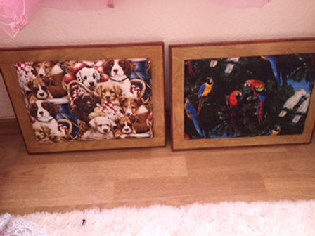 Item #1013 Custom Made Puppy or Birdy Lap Tables (Sample Sale!)