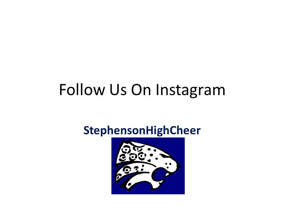 Shsvarsitycheer order forms pay pal payments for Follow us on instagram template