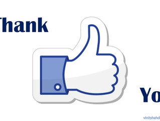 Facebook thank you!