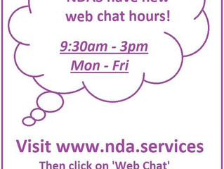 NEW Web Chat Hours!