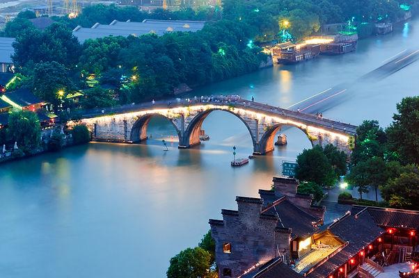 MJFC in Hangzhou China bridge over water