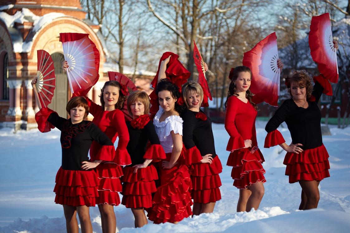 Фламенко в снегу