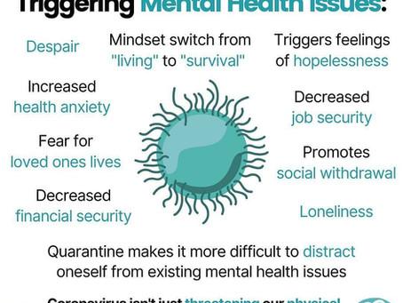 Warum der Corona -Virus psychische Probleme auslösen kann?!