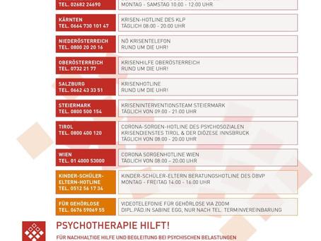 Psychotherapeutische Hotlines für Krisen